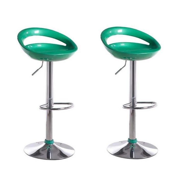 moon lot de 2 tabourets de bar moon vert achat vente. Black Bedroom Furniture Sets. Home Design Ideas