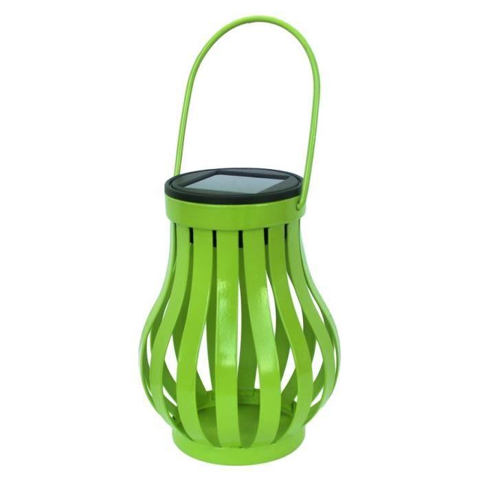 galix lampe de table solaire vase en m tal vert achat. Black Bedroom Furniture Sets. Home Design Ideas