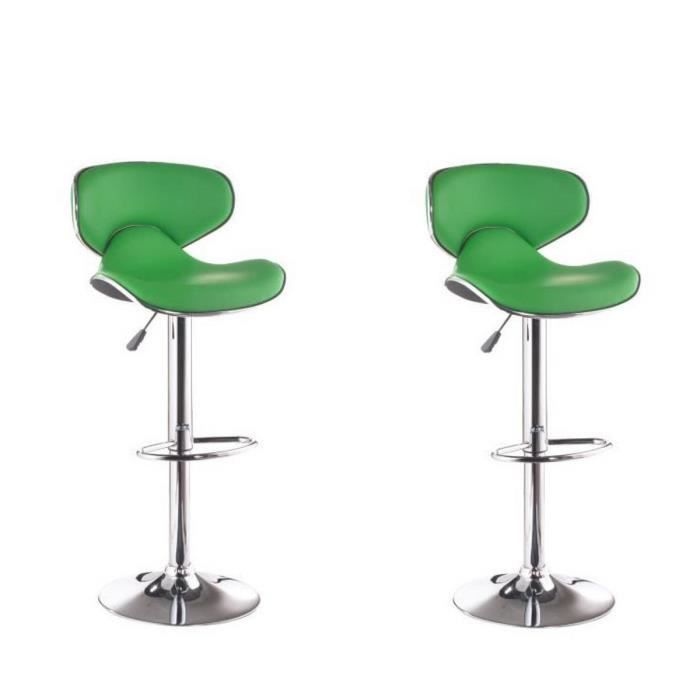 york lot de 2 tabourets de bar vert achat vente. Black Bedroom Furniture Sets. Home Design Ideas
