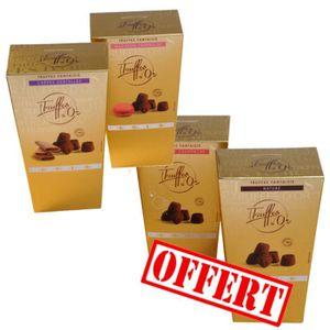 TRUFFES AU CHOCOLAT Lot de 4 MATHEZ - Truffes d'Or en chocolat 4x200g