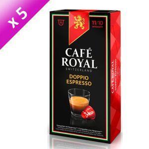 CAFÉ - CHICORÉE Lot de 5 Café Royal Doppio Espresso Capsules Compa