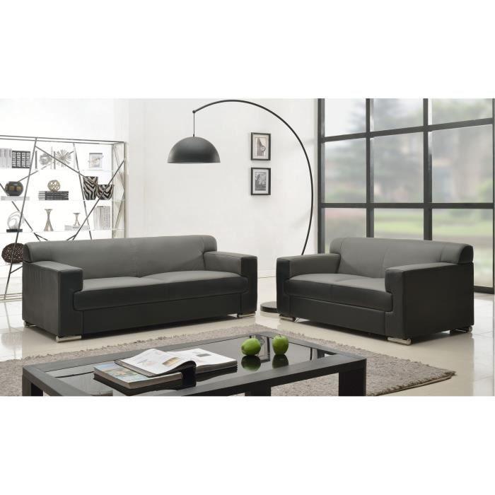 cubo ensemble de canap s fixes 3 2 places cro te de. Black Bedroom Furniture Sets. Home Design Ideas
