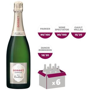 CHAMPAGNE Gosset Brut Excellence Champagne x6