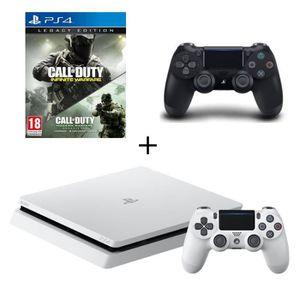 CONSOLE PS4 NOUVEAUTÉ Nouvelle PS4 Slim Glacier White 500 Go +2e Manette