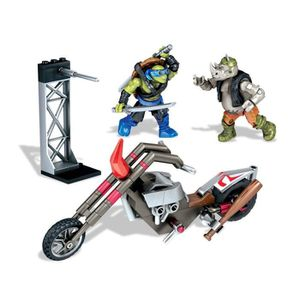 assemblage construction tortues ninja pack attaque rocksteady moto