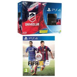 Pack PS4 500 Go + Jeu DriveClub + Jeu FIFA 15