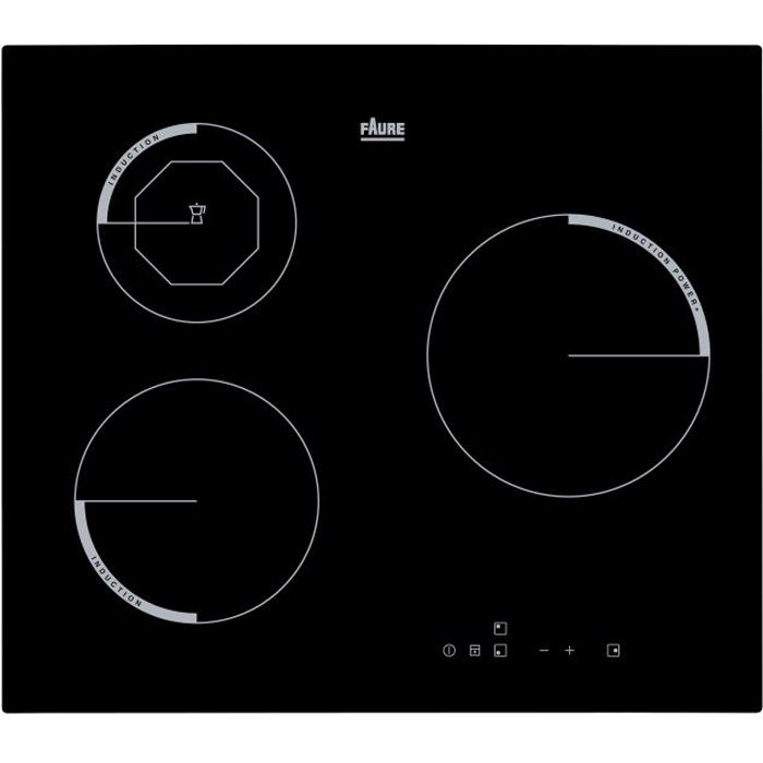Faure table induction fei6830fba achat vente plaque induction cdiscount - Plaque induction faure ...
