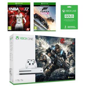 CONSOLE XBOX ONE NOUV. Xbox One S 1 To GOW 4 + NBA 2K17 + Forza Horizon 3