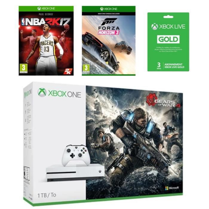 xbox one s 1 to gow 4 nba 2k17 forza horizon 3 live. Black Bedroom Furniture Sets. Home Design Ideas