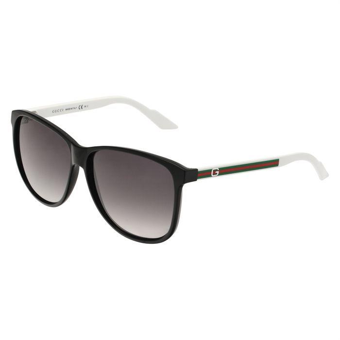 gucci lunettes de soleil femme noir achat vente lunettes de soleil femme adulte cdiscount. Black Bedroom Furniture Sets. Home Design Ideas