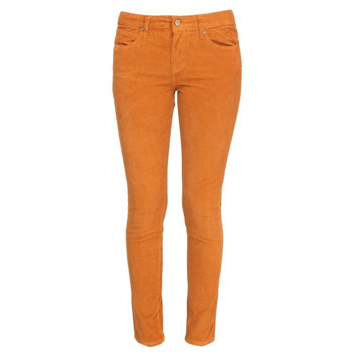 ros w pantalon slim velours femme orange achat vente pantalon cdiscount. Black Bedroom Furniture Sets. Home Design Ideas