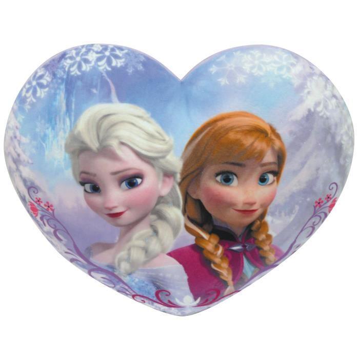 La reine des neiges coussin en c ur anna et elsa achat - Image la reine des neiges elsa ...