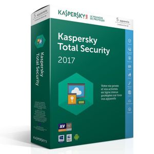 ANTIVIRUS Kaspersky Total Security 2017 5 Postes / 1 An