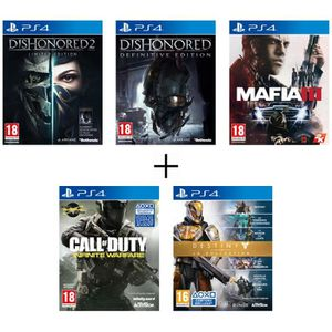 JEU PS4 Pack de 5 jeux PS4 : Dishonored 2+Dishonored Defin