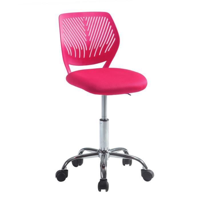 fauteuil de bureau pivotant r glable alpha fuschia achat vente fauteuil rose tissu toile. Black Bedroom Furniture Sets. Home Design Ideas