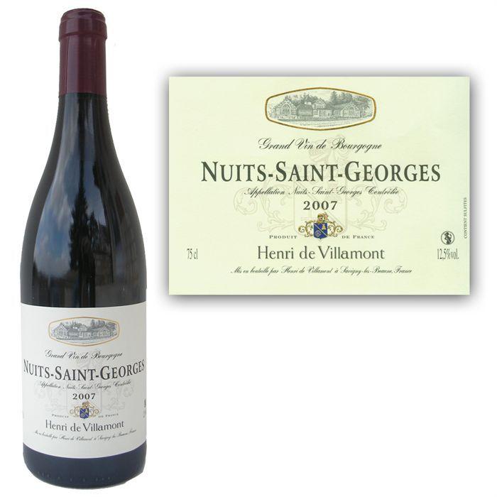 VIN ROUGE Villamont Nuits Saint Georges 2007