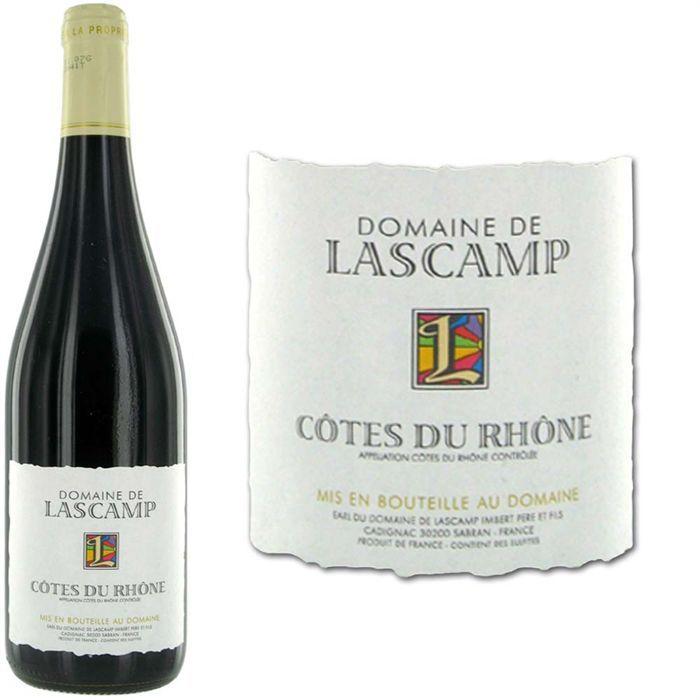 VIN ROUGE Domaine Lascamp Côtes du Rhône 2010