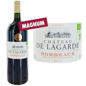 VIN ROUGE Magnum Château de Lagarde AOP Bordeaux Bio 2013...