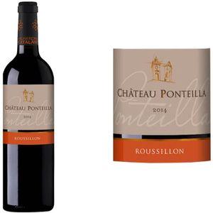 VIN ROUGE Château Ponteilla Côtes du Roussillon 2014 rge