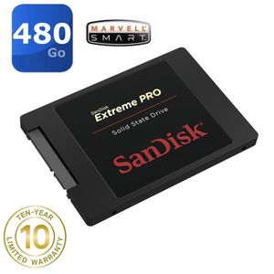 DISQUE DUR SSD SanDisk 480 Go SSD Extreme PRO