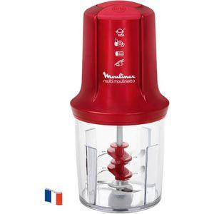 HACHOIR ÉLECTRIQUE MOULINEX - Multi moulinette 3 lames rouge - AT714G