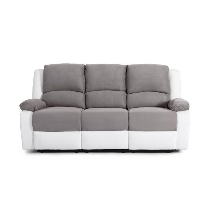 relax canap de relaxation droit 3 places 190x93x96 cm. Black Bedroom Furniture Sets. Home Design Ideas