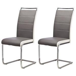 Chaises gris achat vente chaises gris pas cher cdiscount for 6 chaises de salle a manger pas cher