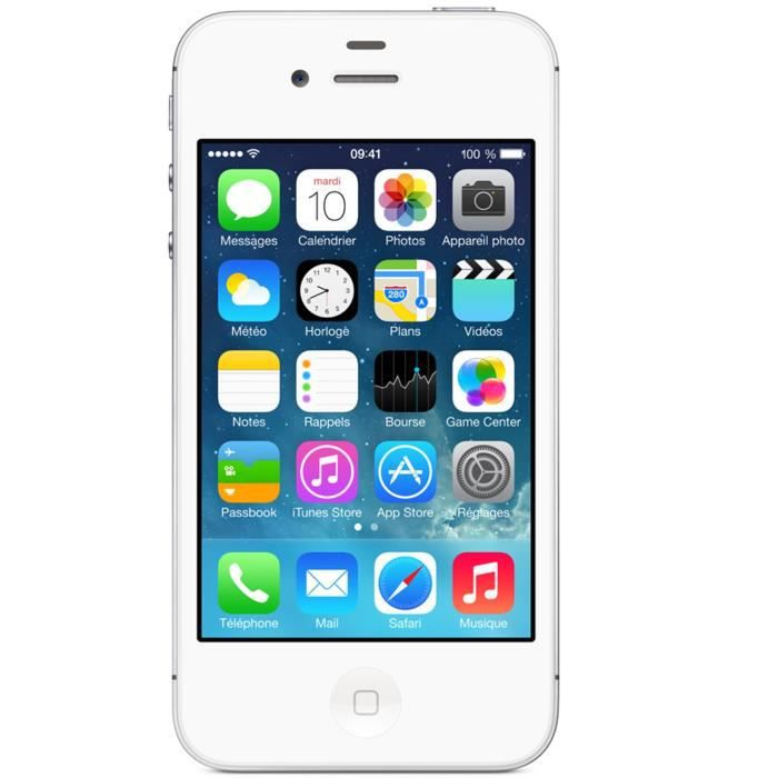 apple iphone 4s 8 go blanc achat smartphone pas cher avis et meilleur prix cdiscount. Black Bedroom Furniture Sets. Home Design Ideas
