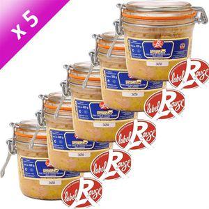 FOIE GRAS Foie Gras de Canard Entier Label Rouge 320g x5