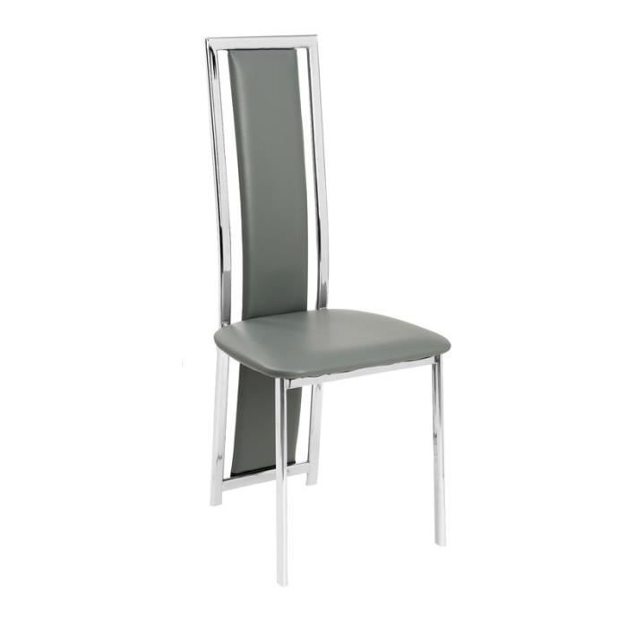 Naya 2 chaises de salle manger achat vente chaise for Chaise salle a manger metal