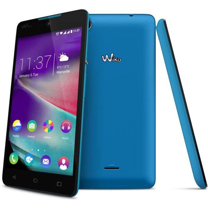 wiko rainbow lite 4g bleu achat smartphone pas cher avis et meilleur prix cdiscount. Black Bedroom Furniture Sets. Home Design Ideas