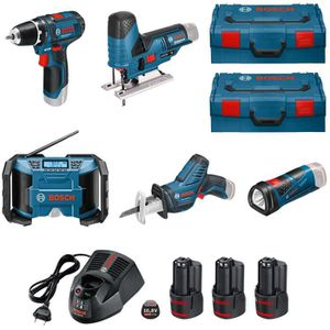 PACK DE MACHINES OUTIL BOSCH Pack 5 machines 10,8V 2Ah