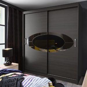armoire coulissante noire achat vente armoire coulissante noire pas cher les soldes sur. Black Bedroom Furniture Sets. Home Design Ideas