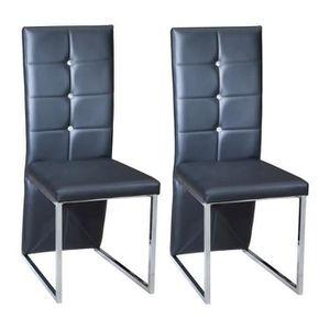 CHAISE BLING Lot de 2 chaises de salle à manger en sim...