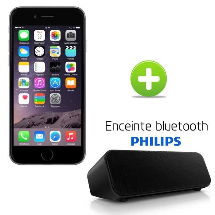 apple iphone 6 16go gris sid ral enceinte bluetooth sbt75 achat smartphone pas cher avis et. Black Bedroom Furniture Sets. Home Design Ideas