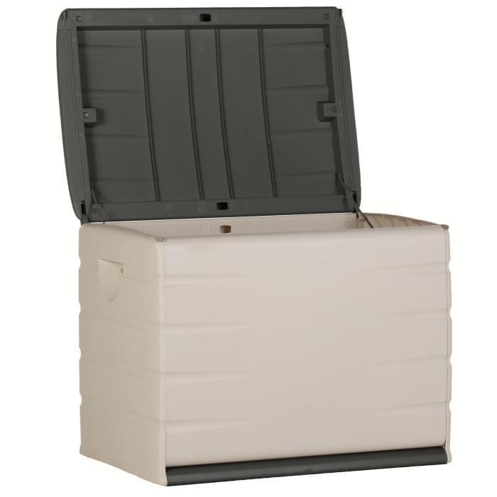 Plastiken coffre de rangement 200 l graphite largeur 60 - Coffre de rangement exterieur ikea ...