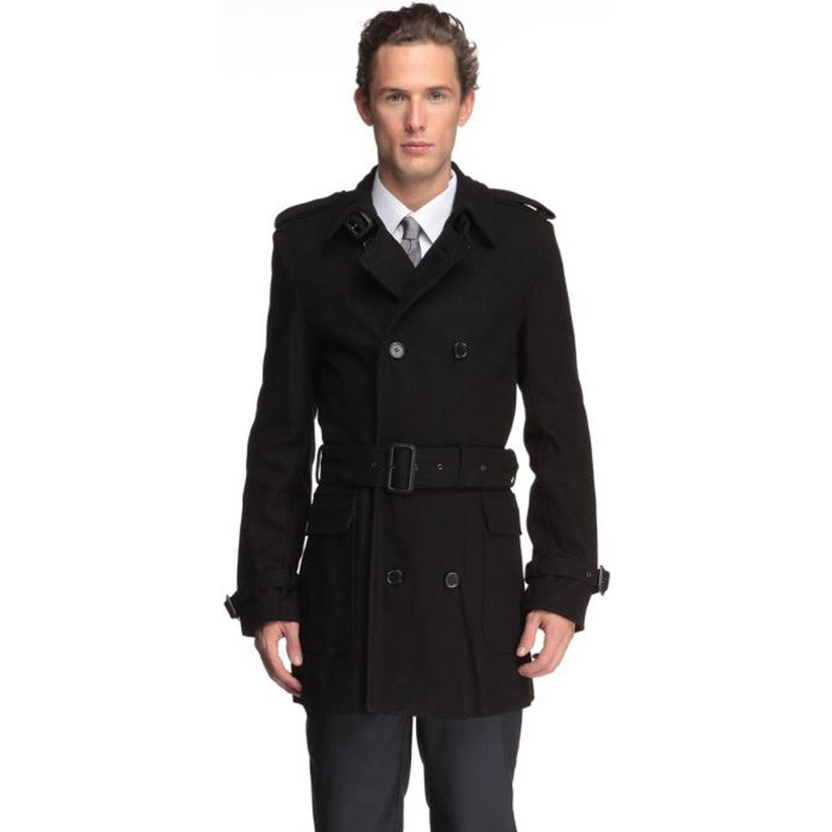 j bradford manteau homme noir achat vente manteau. Black Bedroom Furniture Sets. Home Design Ideas