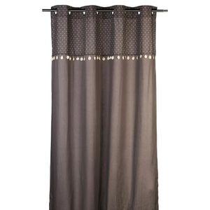 rideau gris et violet achat vente rideau gris et. Black Bedroom Furniture Sets. Home Design Ideas