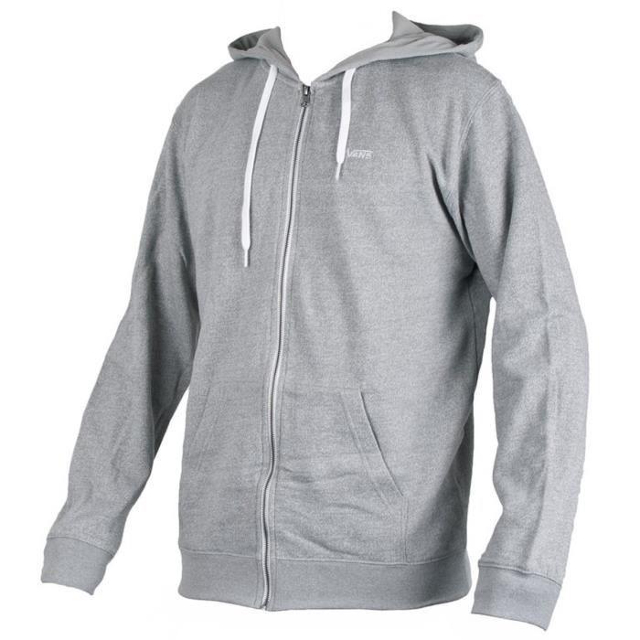 vans veste sweat zipp e capuche homme gris achat vente sweat shirt de sport cdiscount. Black Bedroom Furniture Sets. Home Design Ideas