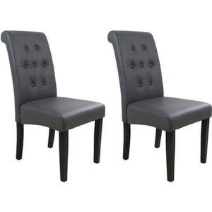 CHAISE CUBA Lot de 2 chaises de salle à manger en simili