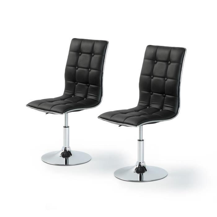 Leaf lot de 2 chaises de salle manger en simi achat for Chaise salle a manger 2015