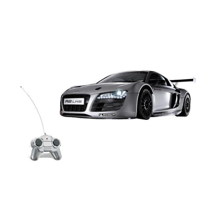 mondo voiture t l command e audi r8 lms 1 24 grise achat. Black Bedroom Furniture Sets. Home Design Ideas