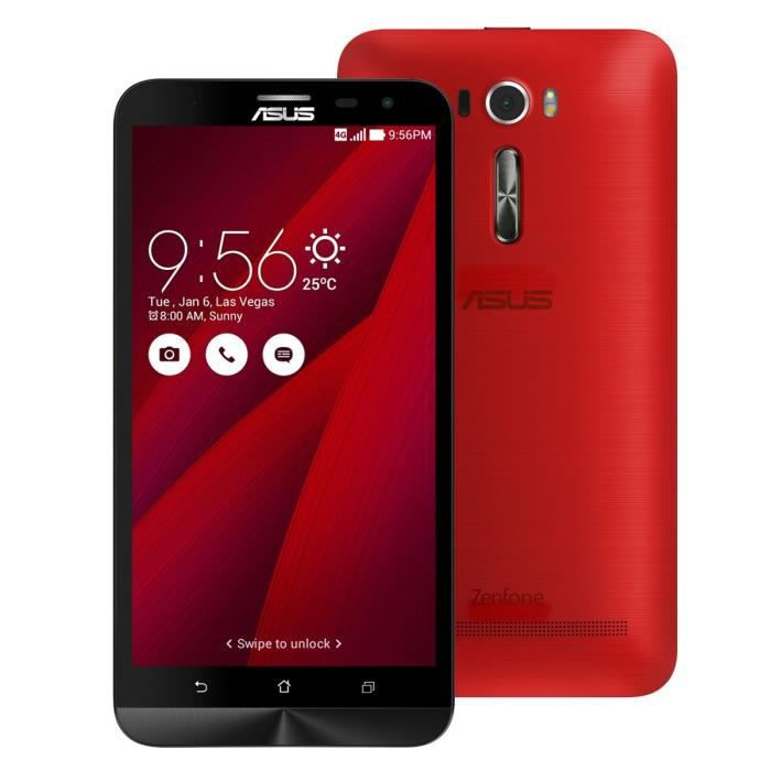 asus zenfone 2 ze601kl 6 full hd 32go 4g rouge achat. Black Bedroom Furniture Sets. Home Design Ideas