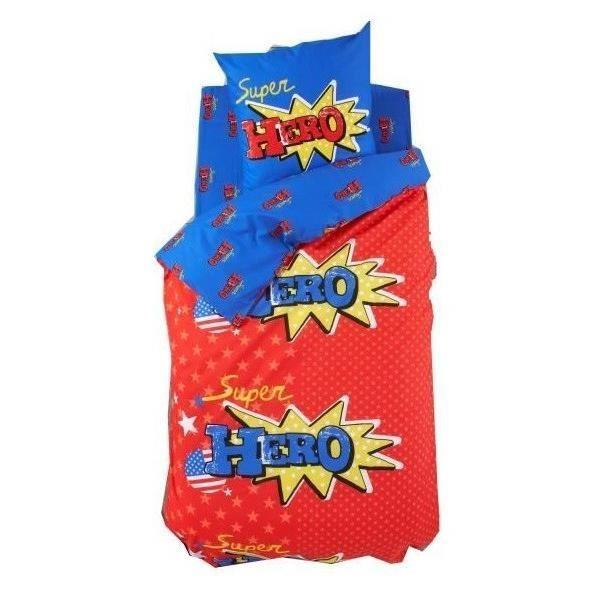 Finlandek drap housse hero 100 coton 90x190 cm rouge for Drap housse 90x190