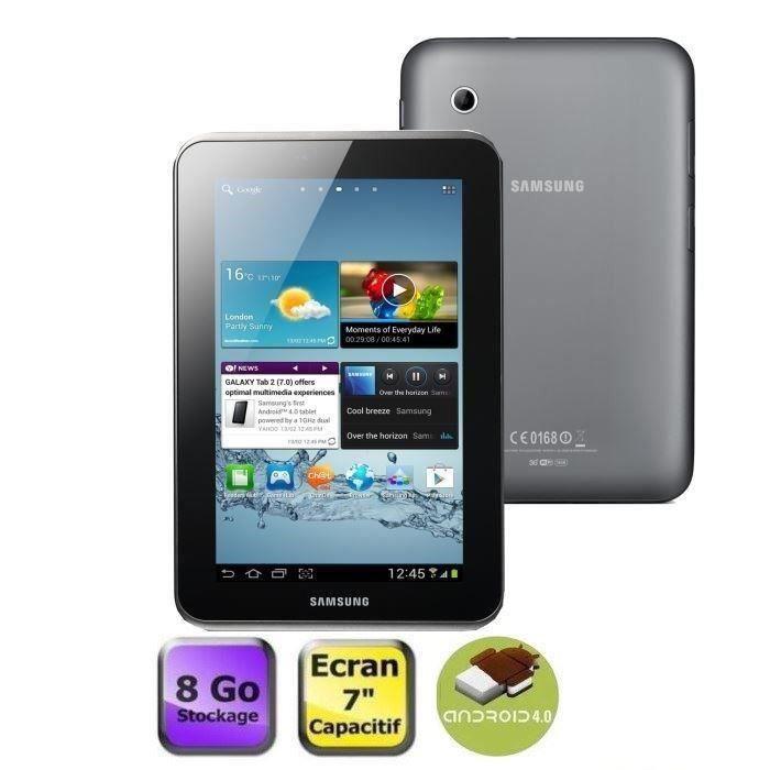Destockage samsung galaxy tab 2 7 wifi 8 go silver - Tablette samsung au meilleur prix ...