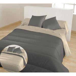 couette gris achat vente couette gris pas cher les soldes sur cdiscount cdiscount. Black Bedroom Furniture Sets. Home Design Ideas