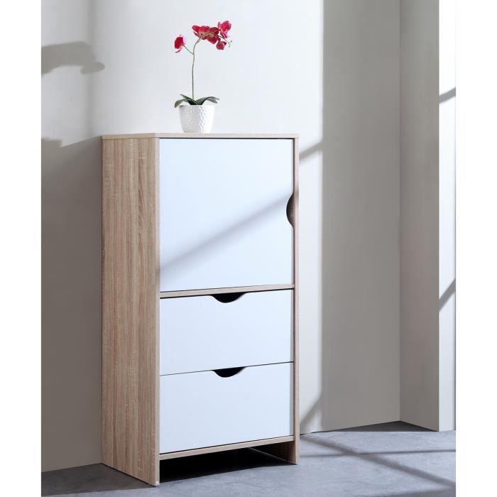 Dico meuble de rangement en panneau de particules finition for Meuble rangement 110 cm