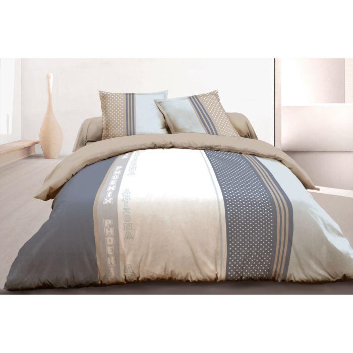 vision housse de couette phoenix 220x240 achat vente parure de couette cdiscount. Black Bedroom Furniture Sets. Home Design Ideas