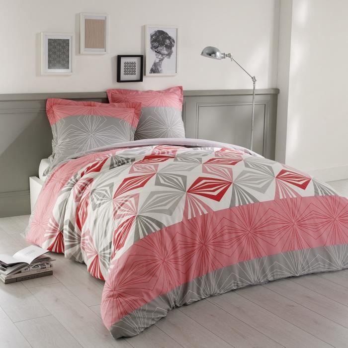 vision housse de couette louise 220x240cm 2 taies. Black Bedroom Furniture Sets. Home Design Ideas