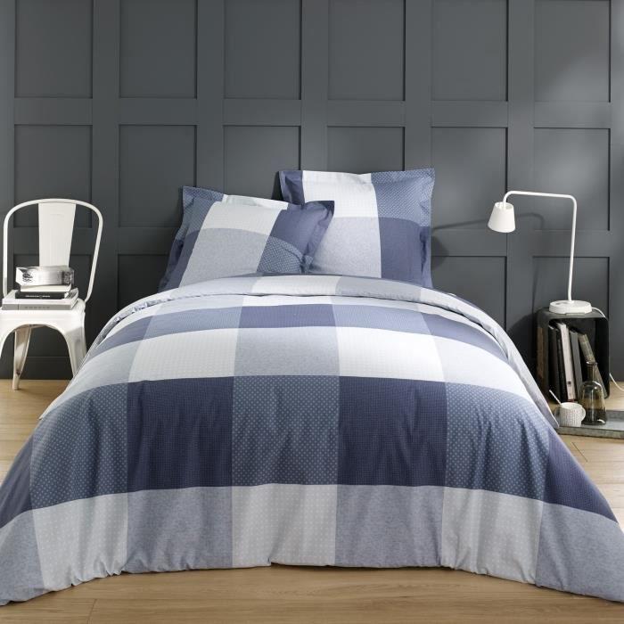 vision parure de couette carol 100 coton 1 housse de couette 240x260cm 2 taies 65x65cm. Black Bedroom Furniture Sets. Home Design Ideas